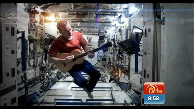Space Oddity sung in space
