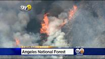 Crews Battle 400-Acre Brush Fire In Angeles National Forest Near Azusa