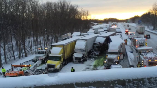 Icy Road Leads to Deadly Indiana Pile-Up