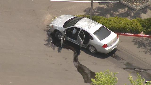 Police chase ends with crash, shooting in San Bernardino; 1 suspect killed