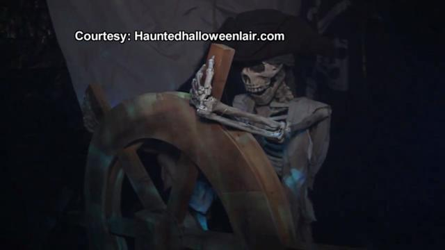 Family Creates Halloween 'Pirate Haunt' Tour in Home
