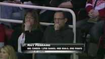 Ray Ferraro watches son Landon's first game