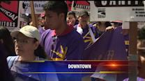 Labor And Immigrant Activists Participate In May Day Rallies
