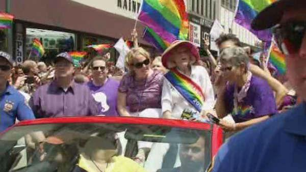 Gay pride march celebrates Supreme Court victory