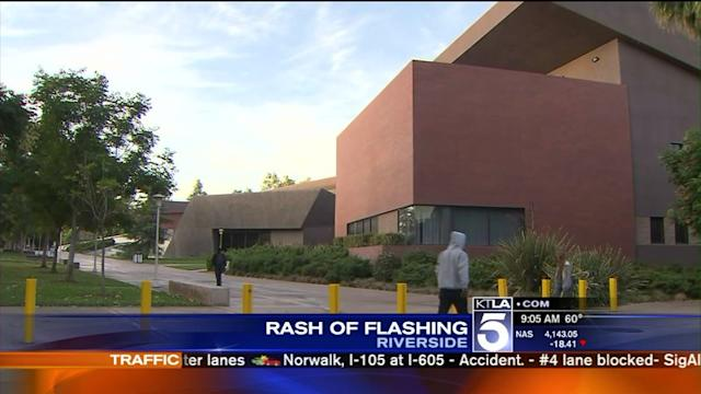 Flasher Sought in Separate Incidents at Riverside Colleges