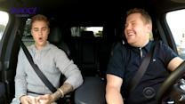 Justin Bieber reveals he only wears pants ONCE as he sings Boyz II Men with James Corden