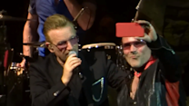 Bono Impersonator and Actual Bono Perform Bizarre Duet at L.A. Concert
