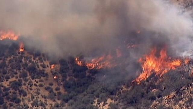 High Winds and Heat Cause Wildfires to Rage in the West