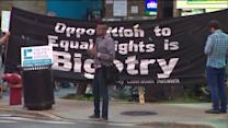 Protestors rally in support of gay marriage laws