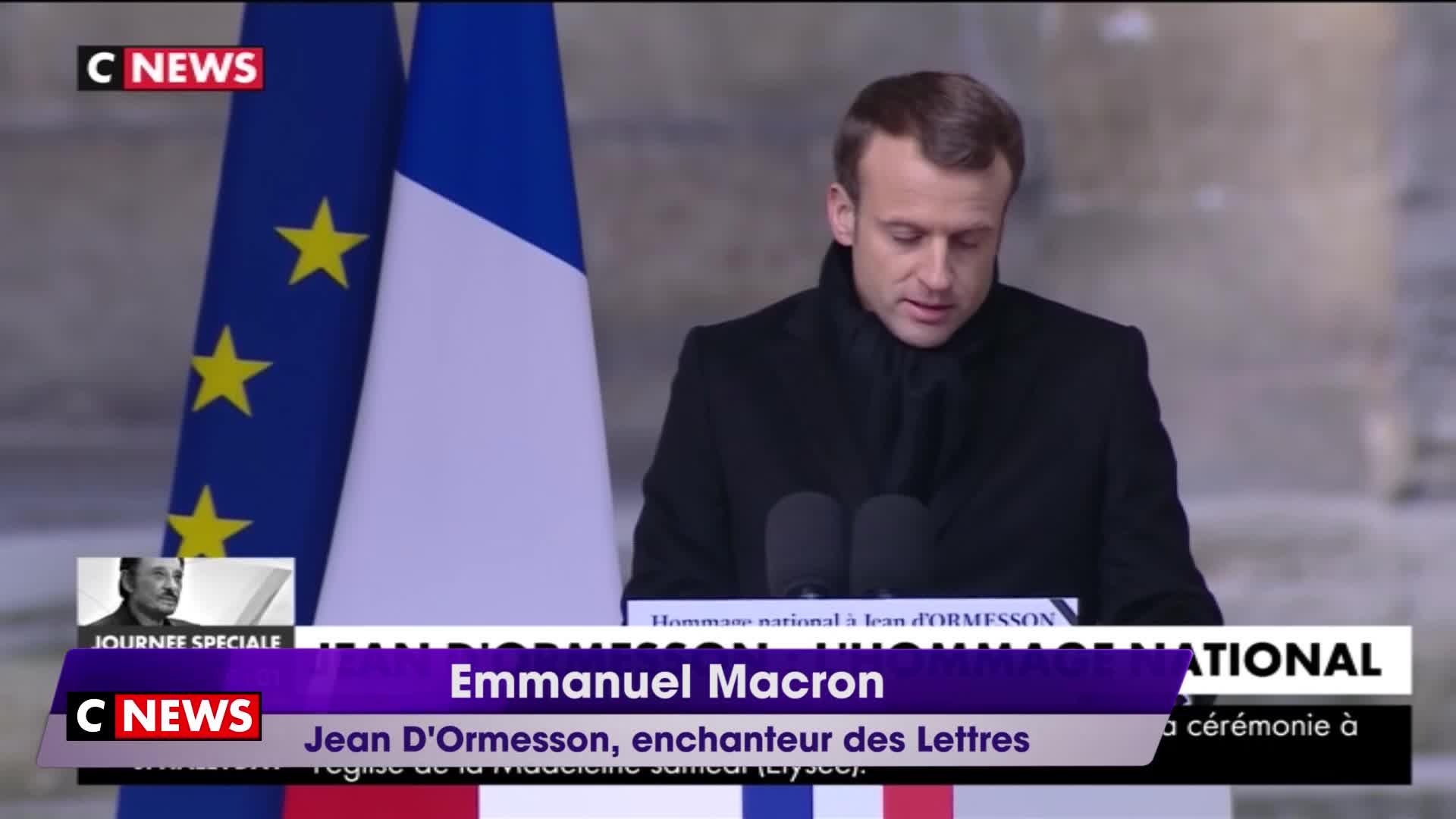 Emmanuel Macron   Jean D Ormesson, enchanteur des Lettres  Video  f74ad0e09b6e