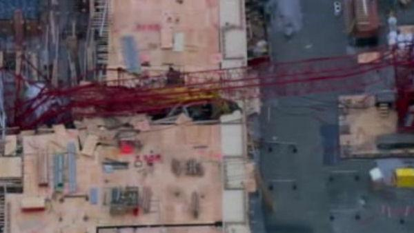 NYC crane collapses; 7 people hurt, 3 seriously