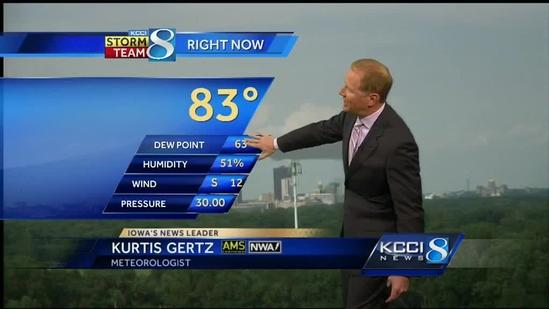 KCCI video weather forecast