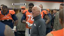 Denver Broncos celebrate win over Miami Dolphins
