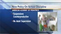 AAP advises against out-of-school suspensions