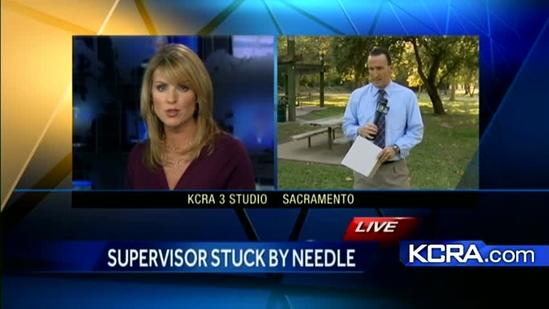 HIV test for Sacramento County Supervisor stuck with needle