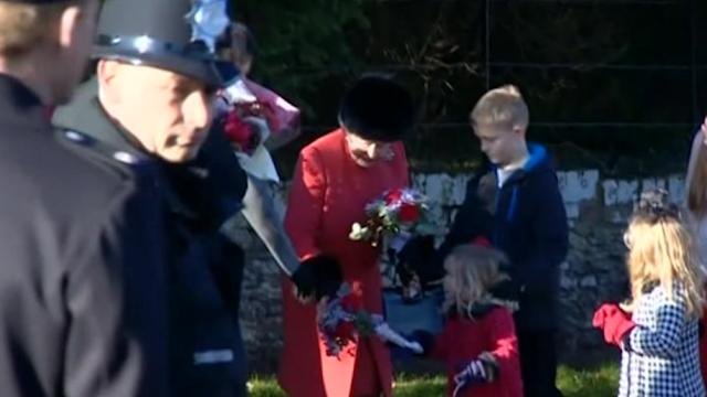 Royal family attends Christmas Day church service