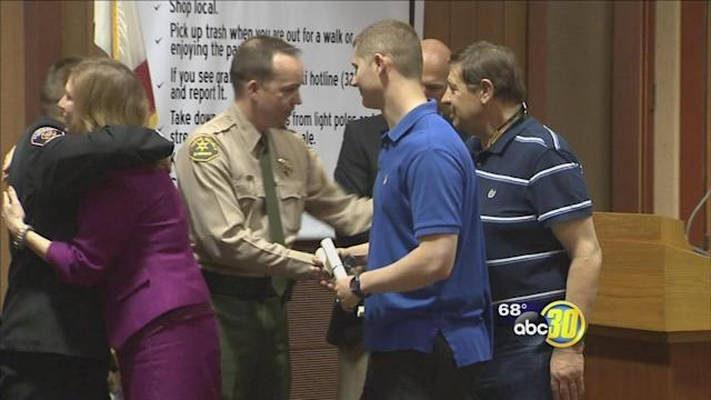 5 honored for helping save Clovis man's life