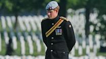 Prince Harry Visits Arlington Nat'l. Cemetery