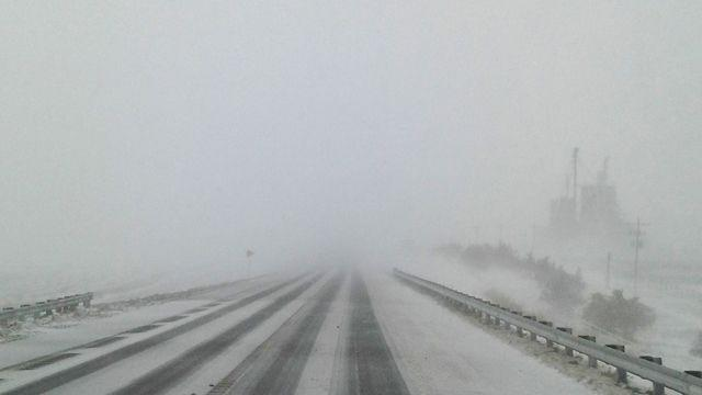 White-out conditions in Oklahoma as 2nd blizzard hits region