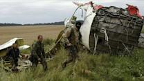 MH17 crash scene: Volunteers look for remains