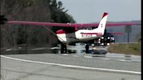 Video: Plane takes off from highway after making emergency landing