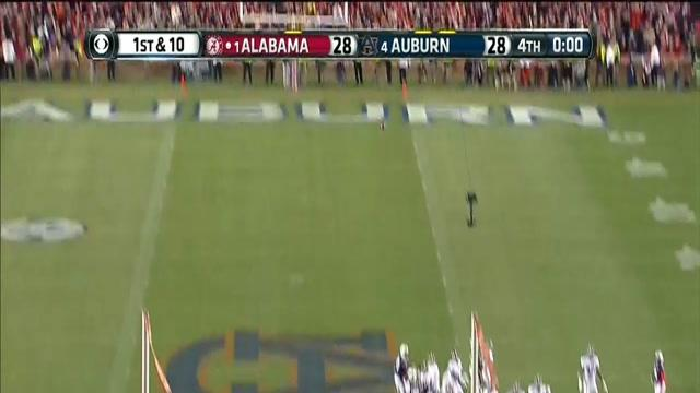 Alabama Missed Field Goal, Returned for Auburn Game Winning Touchdown