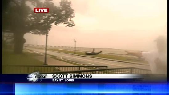 Coast officials survey damage from Isaac