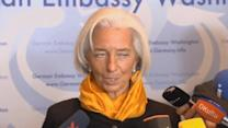 "Lagarde: no need to ""panic"" on Ukriane aid"