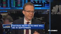 Hatzius: Next rate hike will be September