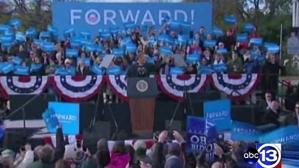ABC13 follows Obama on last leg of re-election campaign