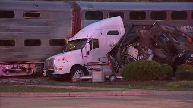 Semi Shredded After Colliding With Train