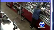 Video shows crooks robbing gas stations