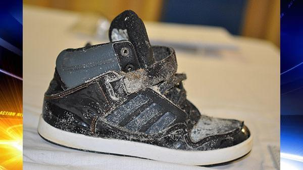 Sneaker with skeletal foot found in Ocean City, New Jersey
