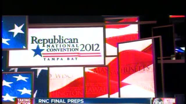 Workers put the final touches on Forum for RNC