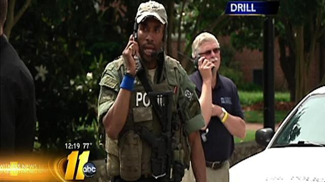 UNC-Chapel Hill holds emergency drill