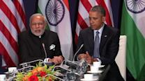 """Modi: India to work """"shoulder to shoulder"""" with U.S. on clean energy"""