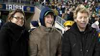 Bon Jovi Cheers Son At Notre Dame FootballGame