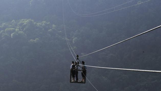 Amazing Rope Bridge Connects Small Village