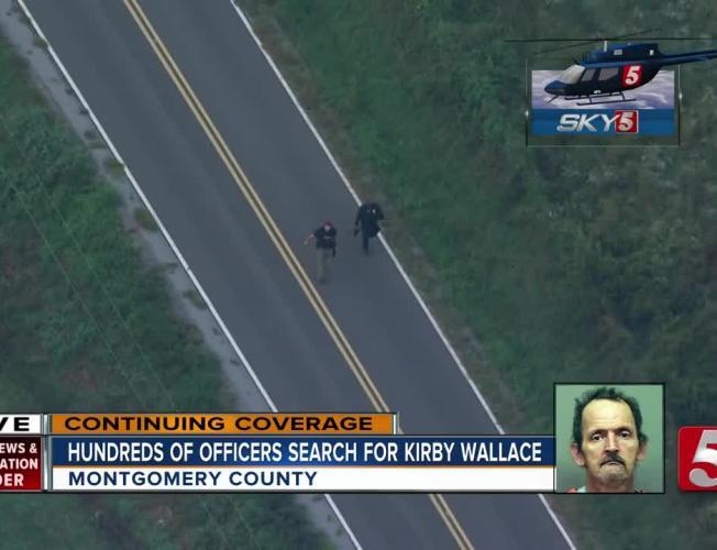 Kirby Wallace Manhunt: Sky 5 Flies Over Roadblocks