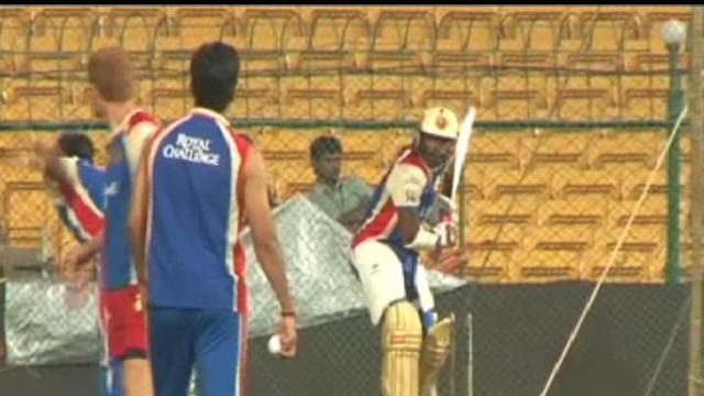 Royal Challengers Bangalore in practice session
