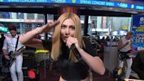 Karmin Rocks Times Square with 'Pulses'