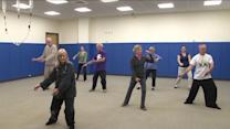 QU Students Teaching Tai Chi To Senior Citizens