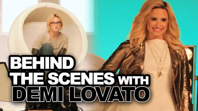 Demi Lovato Behind the Scenes of ACUVUE® 1-DAY Commercial - EXCLUSIVE!