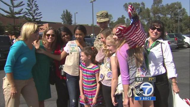 Girl Scout leader back home from Afghanistan