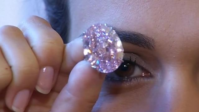 Pink diamond sells for record $83 million