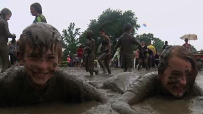 Dirty Fun: Michigan Park Becomes Mud Pit