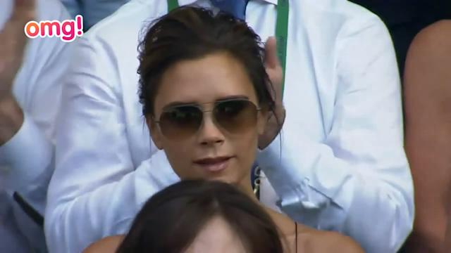 It was the battle of the WAGS on Centre Court