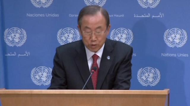 U.N.'s Ban casts doubt on legality of unilateral U.S. plans to punish Syria