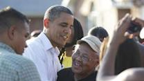Convention eve: Obama consoles storm victims