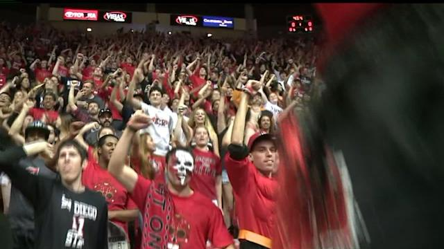 Fans Celebrate The Aztecs Bounce Back Victory